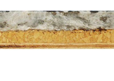 Mattonella in pietra, sughero, okoumè
