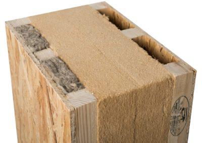 Tetto ventilato performante Ra-tvt = Pannello sandwich x tetti ventilati fibra legno, lana di pecora