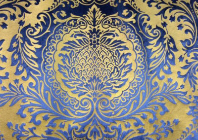 tessuto damascato blue
