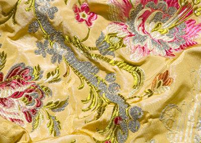 tessuto damascato floreale